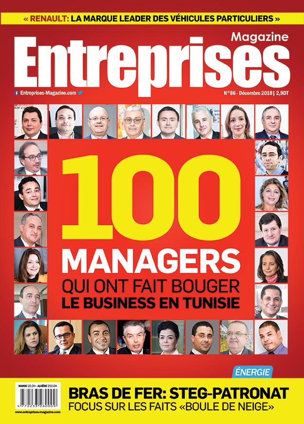 Couverture 100 Managers - Entreprises Magazine