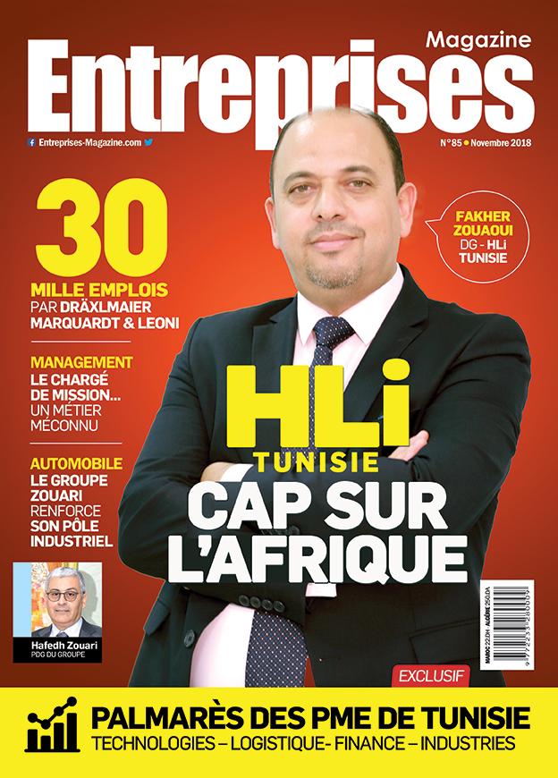 Couverture Entreprises Magazine Novembre 2018