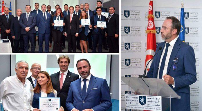 cérémonie au campus de l'Université Européenne de Tunis