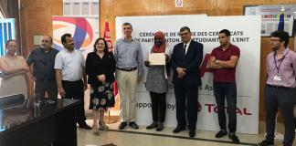 cérémonie de remise des certificats de participation à la formation TPA