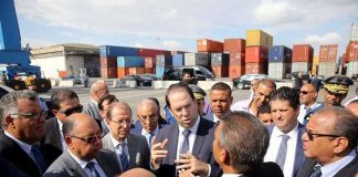 Youssef Chahed en visite au Port de Radés