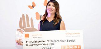 Amira Cheniour la gagnante du prix orange entrepreneur social