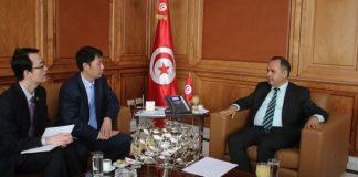 Mabrouk Korchid et l'ambassadeur de chine