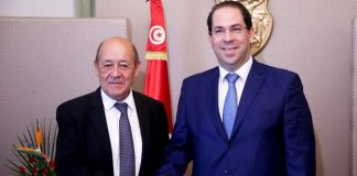 Youssef Chahed-Jean Yves Le Drian