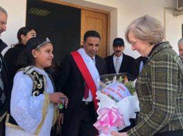 Louise De Sousa en visite à Zaghouan