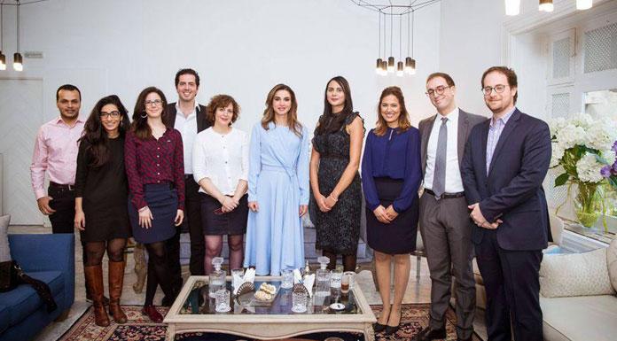 La Reine Rania de Jordanie rencontre Flat6Labs et des entrepreneurs Tunisiens