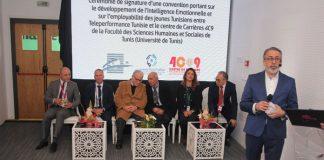 signature convention entreTeleperformance Tunisie et le Centre de Carrières 4C9 de la FSHST