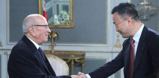 Le vice-président de Huawei et Béji Caïd Essebsi