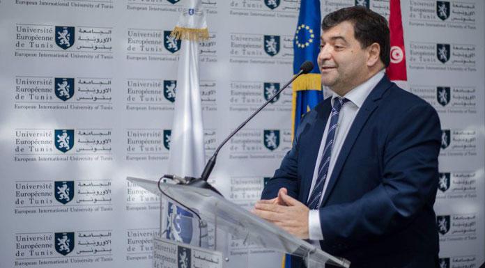 René Trabelsi au campus de l'Université Européenne de Tunis