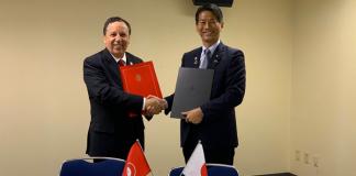 Khemais JHINAOUI, Ministre des Affaires Étrangères de la République Tunisienne et Son Excellence Monsieur Kenji YAMADA