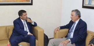 Tarak Cherif, Président de la CONEC et Diego Zorrilla, Coordonnateur résident des Nations Unies en Tunisie
