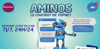 TOPNET AMINOS nouvelle plateforme CHATBOT