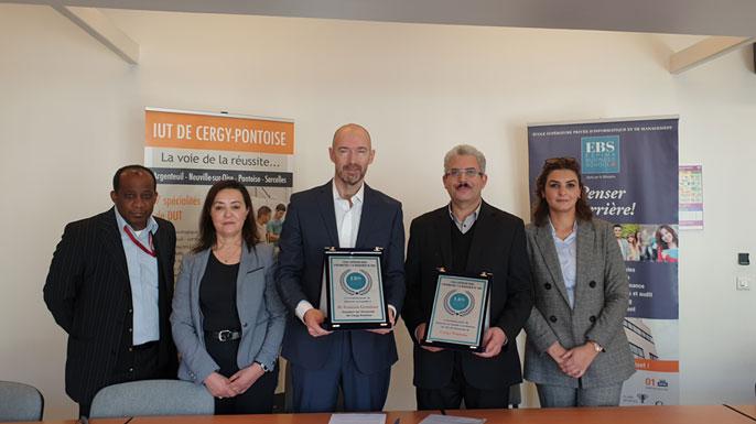 partenariat entre l'Université Cergy-Pontoise Paris et ESPIMA BUSINESS SCHOOL
