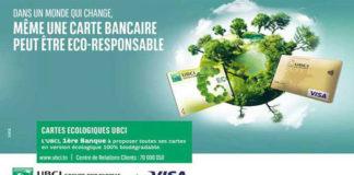 UBCI cartes bancaires biodégradables