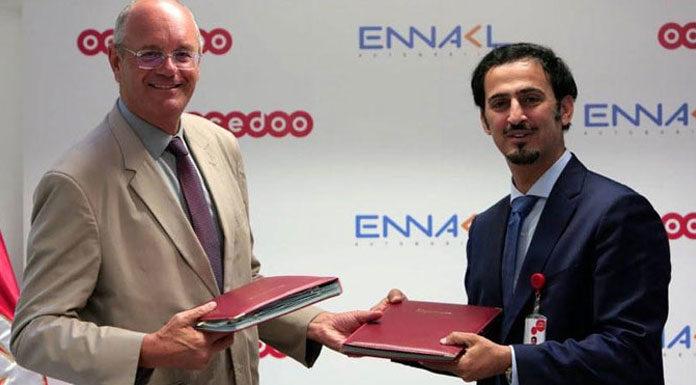 Ibrahim DEBACHE DG Ennakl et Mansour Rached El Khater DG Ooredoo Tunisie