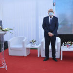 Ridha Charffedine lors de l'innauguration du servie des soins de l'hopital de Sousse