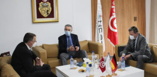 Tarak Cherif et l'ambassadeur d'Allemagne en Tunisie