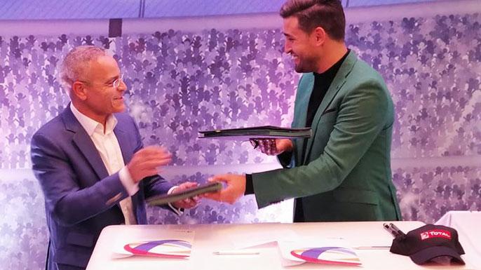 Karim Haggui ambassadeur Foot de Total Tunisie