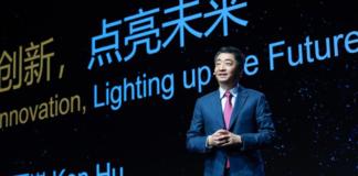 M. Ken Hu, Vice-président de Huawei lors de la cérémonie d'ouverture du Mobile World Congress Shanghai 2021