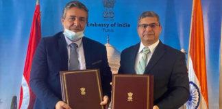 Ambassade de l'Inde accord école Mreghma de Jendouba