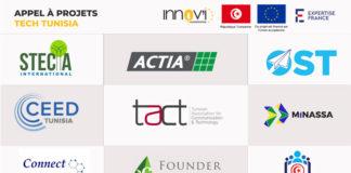Résultats appel à projets Innov'i EU4Innovation Tech Tunisia